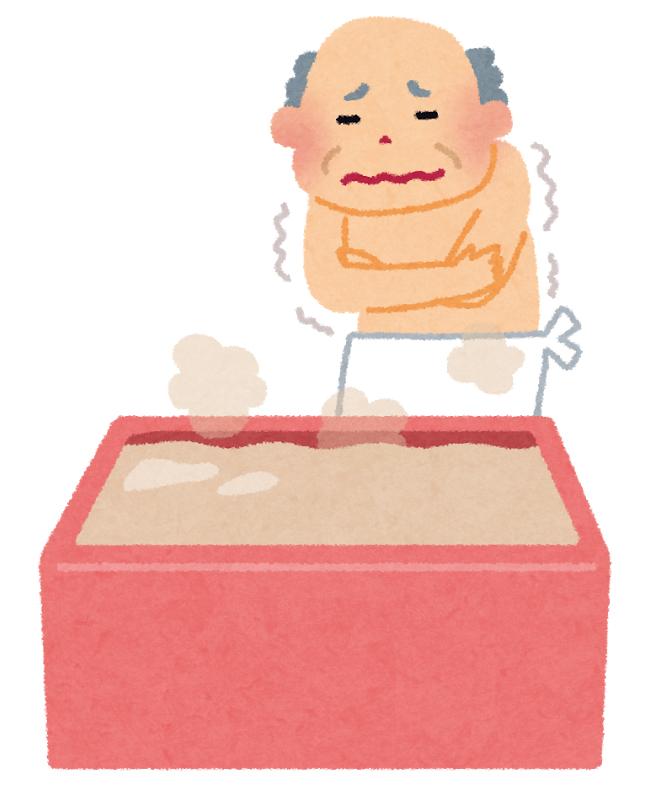 風呂場での無理な金冷法は心筋梗塞(ヒートショック)を引き起こす恐れも