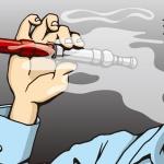 煙草を吸っている男性のイラスト